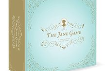 The Jane Game / The Jane Game is a Jane Austen trivia board game. It can be purchased on Amazon.com  http://www.amazon.com/gp/product/B00RWCONDY/ref=s9_psimh_gw_p21_d0_i1