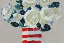 Róże w wazonie / malarstwo