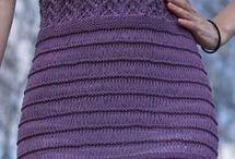платья спицами