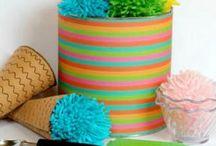 knitting and homemade food