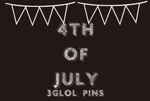 4th of JULY / All things 4th of July!  Decorations, Food, Beverages, Party Ideas