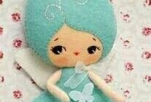 muñecas fieltro