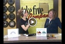 LHD on TV! / Live tv appearances by Leslie Hart-Davidson of Hart-Davidson Designs featuring interior design tips & tricks on WZZM's Take Five & Company in Grand Rapids, MI / by HDD Studios