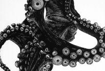 Ilustration / Reverence black and white