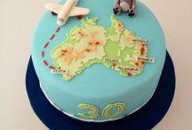 Australia themed cakes