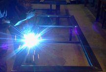 ferro & ardesia / un veloce racconto per immagini di come viene realizzato un tavolo artigianale in ferro & ardesia