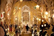 Ceremony Aisle Style / Don't forget to decorate the walkway to meet you future husband, so important and often forgotten.