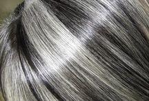 Nuances de cabelo prateadas