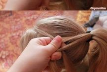 Hair style with braids