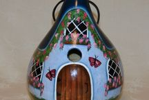 hand painted gourds