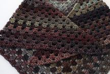 crochet  shawl granny  square