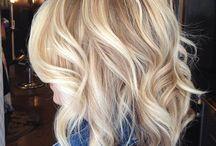 Seductive blond hair / Long and short blond