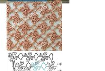 Kwiaty na szalik piękne