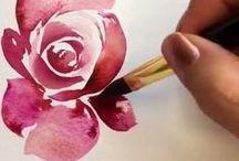 Rózsa akvarell lépésenként