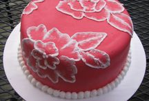 Taart! Brush Embroidery cakes