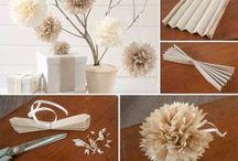 virágok / virágok gyöngyből, papírból, vagy varrva