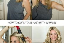 Hair curling tutorial