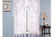 White Lace Sheer Curtains & Valances