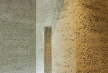 Rammed earth feature