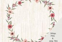 Floral Wreaths / Floral Wreaths, Wedding clipart, flowers Wreaths,  boho Wreaths,