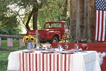 Color - Red White & Blue / by LaurieAnna's Vintage Home