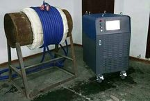 Post welding heat treatment with induction / Post welding heat treatment with induction.  http://www.dw-inductionheating.com/PWHT-System-with-Induction-53.html