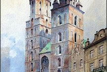 archi-watercolor paintings