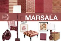 Marsala / Pantone announced that Marsala is the 2015 Color of the Year.  On top of the trend curve, Surya offers a wide selection of in-stock rugs and accessories in this robust wine red color with deep reddish brown hues. / by Surya