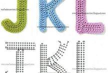 Letras crochê