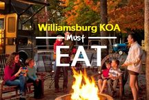 Williamsburg KOA Must Eats! / Restaurants and meals you have to try while at Williamsburg KOA. / by Williamsburg KOA Campground