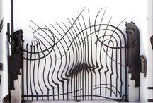 Forged metal: architectural / Forged metal attached to buildings. / Phoenix Handcraft adlı kullanıcıdan
