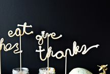 Gee Thanks! / Inspiration for your next Fall / Autumn / Thanksgiving gathering.