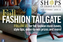 Fall Fashion Tailgate  / Welcome to The Outlet Shops of Grand River's Fall Fashion Tailgate!  This is the place where you will find 10 Trends in 10 Weeks.  Stay tuned each week for updates and the next trend along with how to wear them and where to Shop Them!  Plus when you shop with us on Saturdays this fall and spend $250 in 3 or more stores you will receive a $25 OSGR Gift Card.  All recipients will be entered into a drawing for our Grand Prize!   *Fashion Tailgate Commentary provided by Tracy James Robinson.