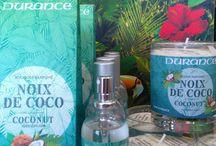 durance / chaque saison Durance sort un parfum éphémère cet été la NOIX DE COCO est à l'honneur