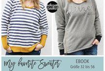 """""""my favorite sweater"""" - schaumzucker / Das digitale Schnittmuster """"my cuddle me"""" von schaumzucker als Ebook."""