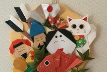 折り紙  お正月