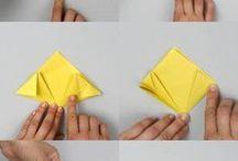 boules de fleurs en origamie