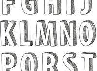 Font alphabet