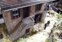 belgian vilage diorama ww2