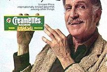 Vincent Price Cooks... / Vintage Ads and recipes featuring Vincent Price
