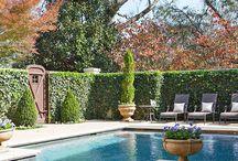 Pool paving & courtyard