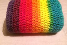 Rainbow infinity scarves