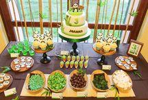 "PJ Panda Party Posse ""9"" / Sweet Child of mine got creative for her 9th birthday theme!!"