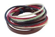 Leren Armbanden uit Tibet / Leren armbanden met de handgemaakt door ambachtslieden uit Tibet.   Slechts € 7,50 per stuk en gratis verzending binnen Nederland.   Bekijk de hele collectie leren armbanden op www.wereldsejuwelen.nl