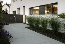 Landschaftsbau an Haus