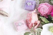 A Velvet ring box / Velvet ring boxes