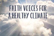 Faith / Faith voices showing leadership on climate action.