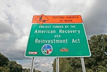 Stimulus in Action (What Your Tax Dollars Payed For) / One portion of The American Reinvestment and Recovery Act has been centered around road signs promoting the program. According to recovery.gov, the project cost nearly $15 million and has created just 17 jobs.