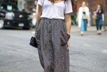 sawing skirt