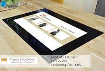 LCD Integrationen (german) / SMART VISION ist das Home-Entertainment, welches individuell in verschiedenen Räumen z.B. Küche und Bad Verwendung findet. Internettechnologien, Unterhaltungselektronik und Präsentationsmedien verschmelzen mit Möbeln und Architektur. SMART VISION unterstützt diesen Trend durch seine patentierte LCD-Displayintegration.